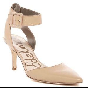 Sam Edelman Okala Nude Leather heels sz 8